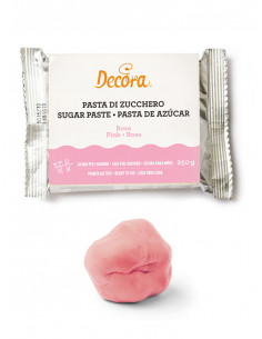 Pasta de sucre rosa 250 g | Decora