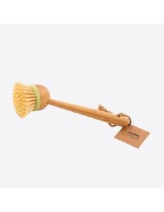 Brosse à vaisselle avec poignée en bambo