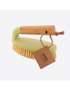 Brosse abrasive avec poignée en bambou e