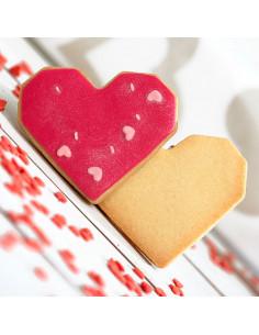 Tallador de galetes en forma de cor geomètric | Decora