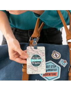 Etiqueta para equipaje Tu mejor aventura
