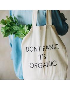 Bossa reutilitzable 'Don't panic it's organic'   Andrea House